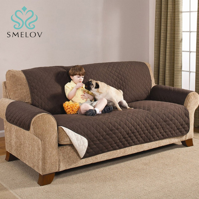 1/2/3 Seater Waterproof Quilted Sofa Covers For Dogs Pets Kids Anti