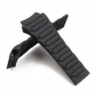 Image 4 - Men watch band watch accessories rubber strap women for porsche design 6620 sports waterproof watch belt