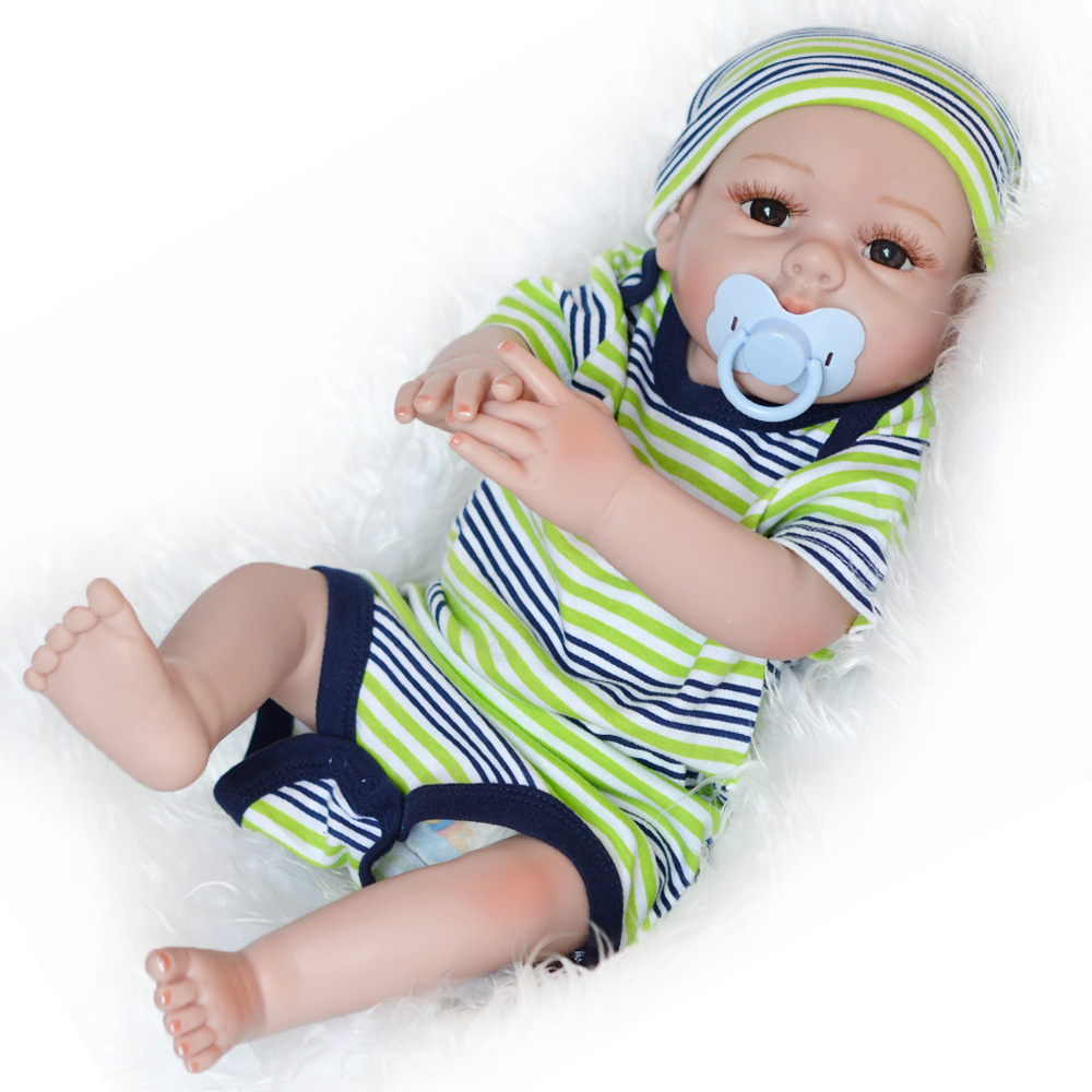 20 Inch 50-55CM Silicone Full Vinyl Body Reborn Baby Doll Handmade Soft Touch Kids Toys for Children Bebe  Alive Bonecas