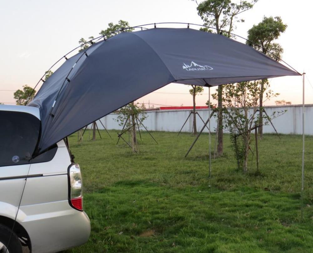 Laputa 4-5 Person Use Fiberglass Sun Shelter Large Gazebo Camping Tent Self-driving Tour Car Tail Tent Beach Tent