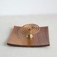 Saucer Incense Rack Incense Burner African Ebony Acerbic Wood Racks Woodiness Square Modelled after an Antique Elegant Refined