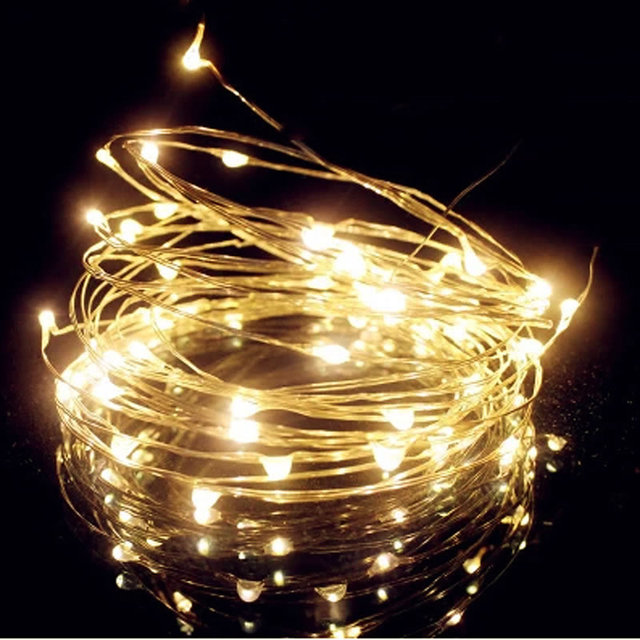 SPLEVISI 10M 100led Battery Powered Timer LED String Fairy Lights Christmas  Holiday Party DIY Home Outdoor - SPLEVISI 10M 100led Battery Powered Timer LED String Fairy Lights