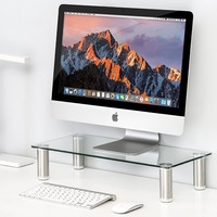 Fitueyes Clear Computer Monitor Riser Save Space Desktop Stand height adjustable DT105001GC