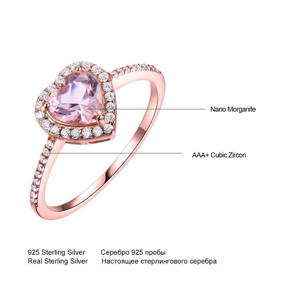 UMCHO Simulate Pink Morganite Real Pure 925 ստերլինգ - Նուրբ զարդեր - Լուսանկար 5