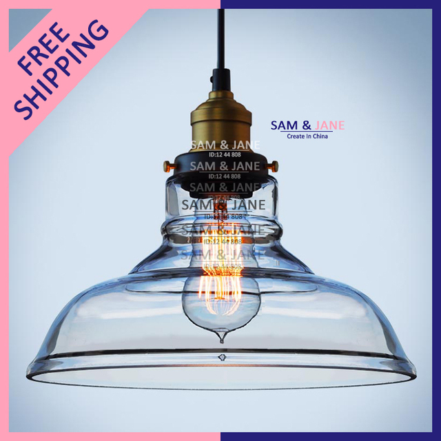 vintage industrial pendant light fixture glass lustre lampshade decoration modern indoor stair lighting led bulb edison aliexpresscom buy vintage industrial lighting modern