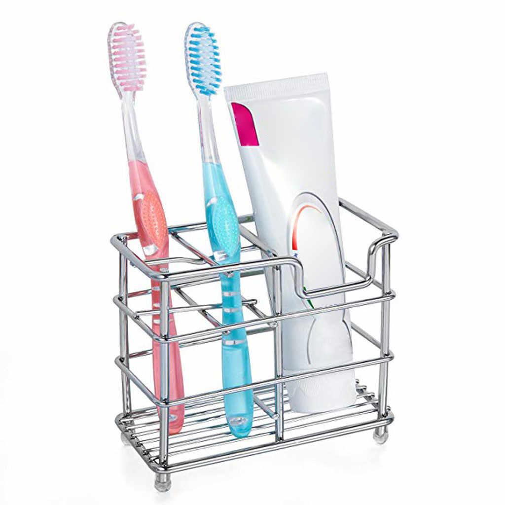 Dropshipping ze stali nierdzewnej łazienka szczoteczka do zębów uchwyt do pasty do zębów stojak pionowy