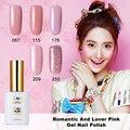 MRO 15 ml Romántica Amante Dulce Esmalte de Uñas de Gel UV LED Girls Pink Nude Serie Soak-Off gel barnices dulces Colores