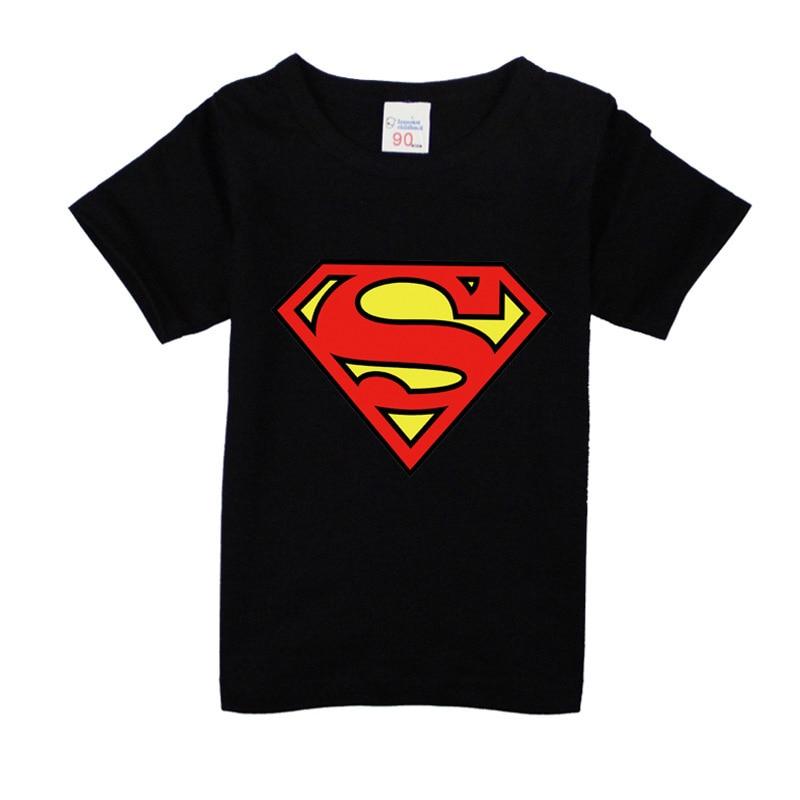 T-Shirts Boys Short-Sleeve Kids Clothing Supermantops Girls Fashion Children for 10-Colors