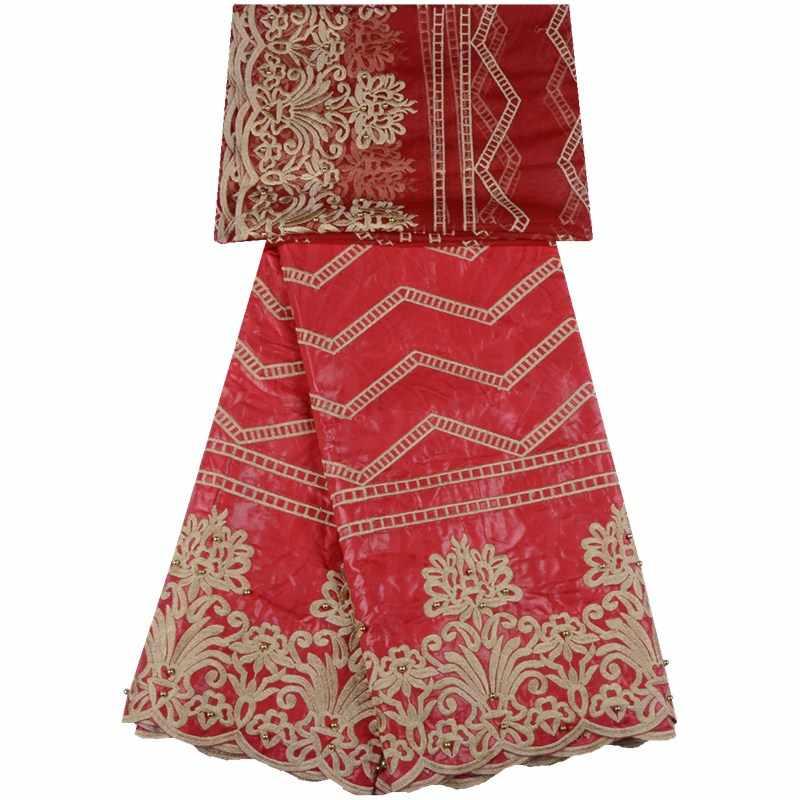 Черный Цвет Getzner парчовые ткани в африканском стиле вышитые парча в Гвинейском стиле с чистой кружева для каждого платья SewA735