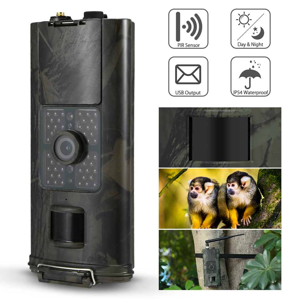 Caméra de chasse infrarouge 16MP 1080 P piège de caméra de sentier 2G MMS SMS 940nm faune chasse piège caméra 0.5 S temps de déclenchement
