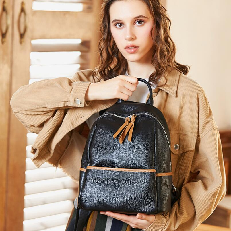 FoxTail & Lily 100% Real Leather Backpack Women Popular School Bag Luxury Designer Soft Genuine Leather Fashion Travel BackpacksFoxTail & Lily 100% Real Leather Backpack Women Popular School Bag Luxury Designer Soft Genuine Leather Fashion Travel Backpacks