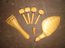 1 set Boxwood Violin parts 4/4 with chin rest tail piece pegs & end pin