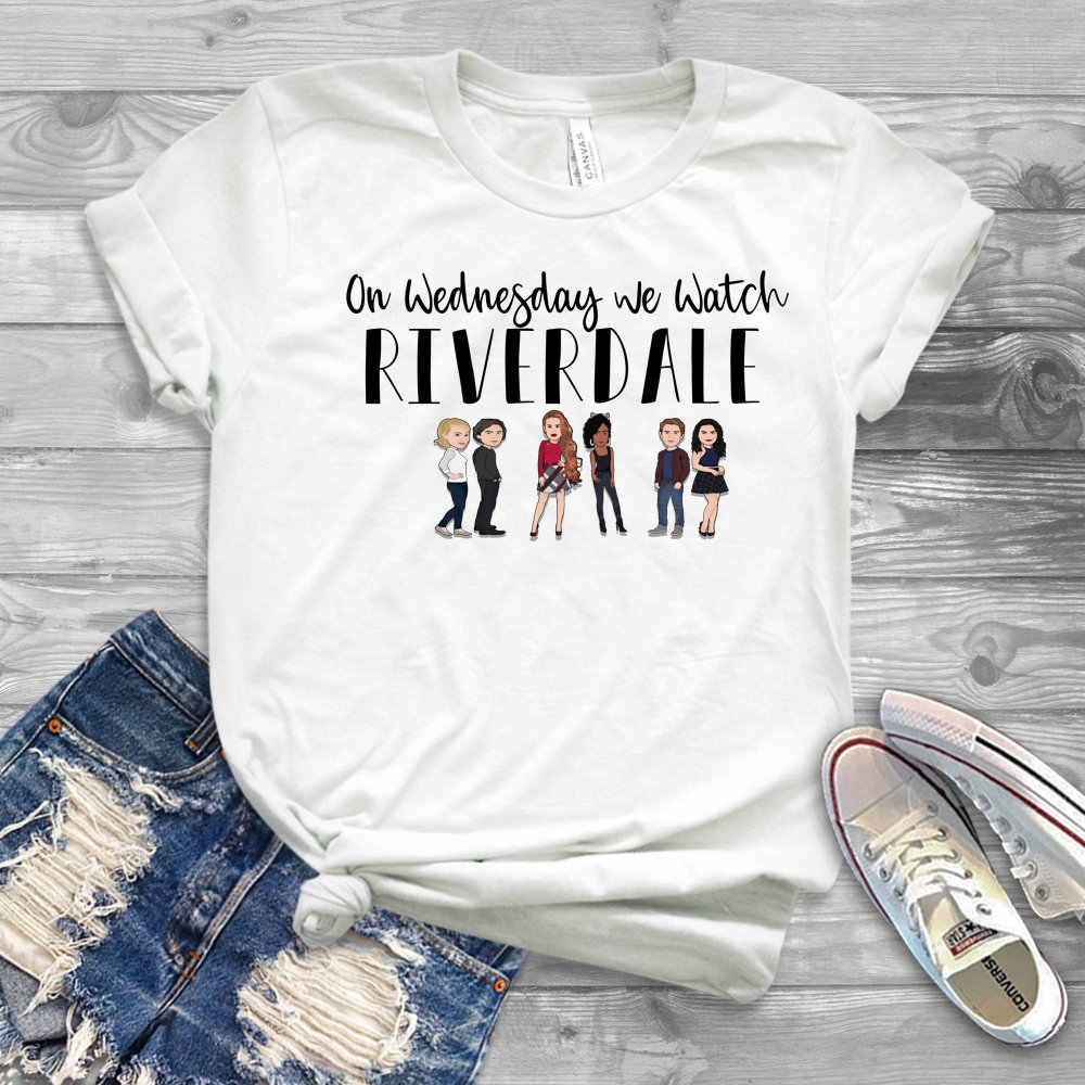 2019 Women Riverdale T-shirt On Wedneday We Watch Riverdale Shirt Tv Show Betty Cheryl Jughead Tee Funny T-shirt