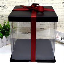 Подарочная коробка для цветов и медведей, Подарочный чехол, пенопластовые цветы, прозрачная упаковочная коробка, много размеров на выбор, на День святого Валентина