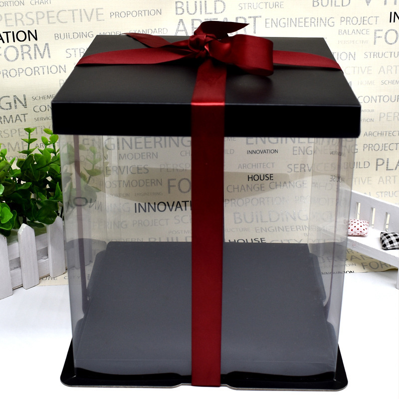 Gift Box Use For Flowers Bear Gift Case Foam Flowers Transparent Packaging Box Many Size For Choose Valentine