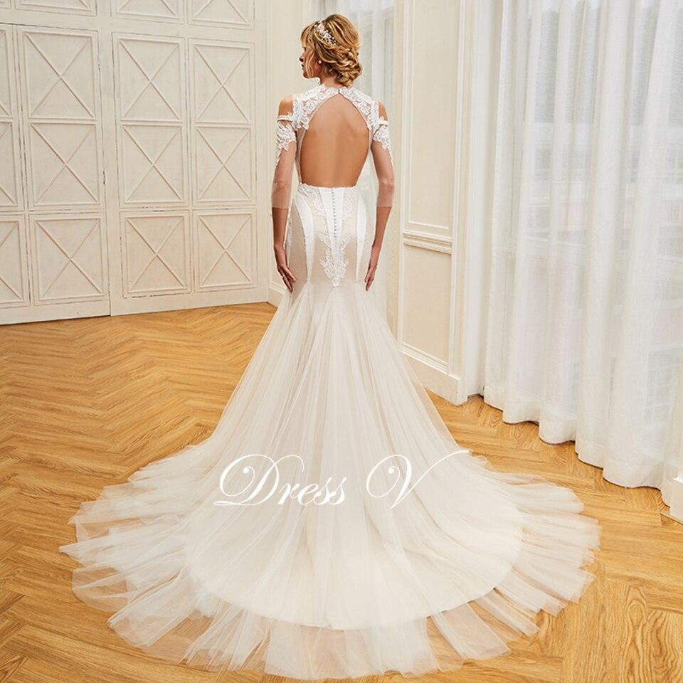 1 2 3 4 5. product details Dressv appliques elegant scoop neck wedding  dress 3 4 sleeves floor length beading bridal 6adac0777dfa