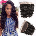 Brazilian Natural Wave 13x4 Lace Frontal Closure 7A Lace Frontals With Baby Hair Loose Deep Wave Full Frontal Lace Closure Weave