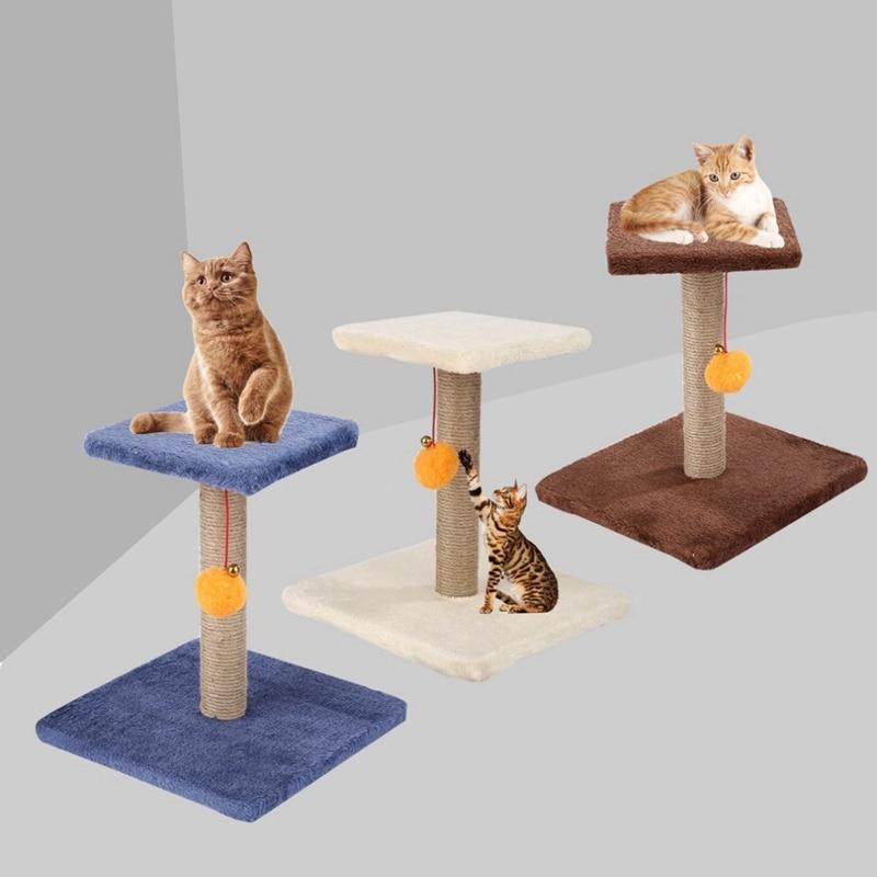 Aqua Dollhouse Miniature Artisan Cat Scratching Post w// Ball