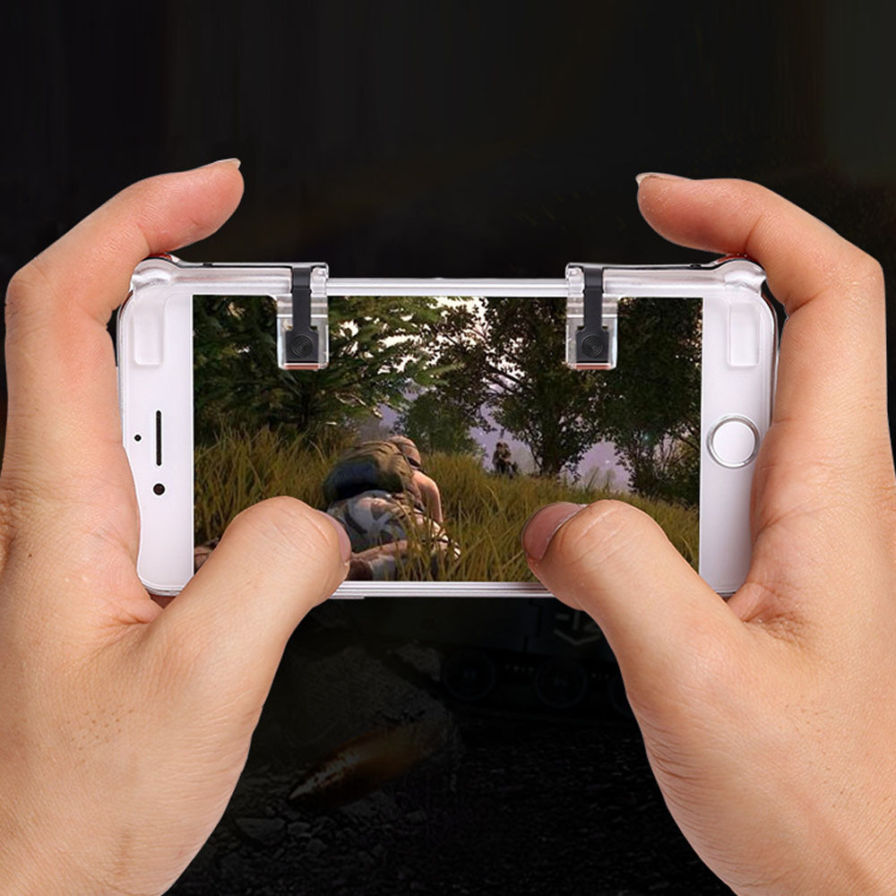 Mobile Phone Gaming Fire Button Trigger L1r1 Shooting Controller L1 R1 Sharp Shooter Pubg Joystick Rule Of Survival Versi 3 Shoot Smartphone Game For Iphone Ios Android