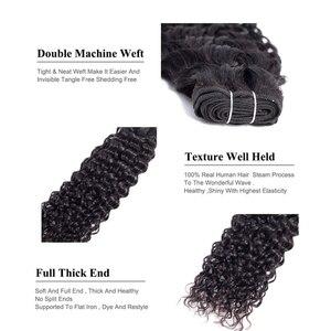 "Image 5 - 甘い水波バンドルインドの毛延長 8 "" 28"" ナチュラルブラック人間の髪織りバンドル 1/ 3/4 個非レミーの髪"