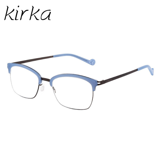 4984fdf4b9 Kirka Special Type Stylish Metal Cute Style Man Eyeglasses Clear Frame  Glasses Blue Color