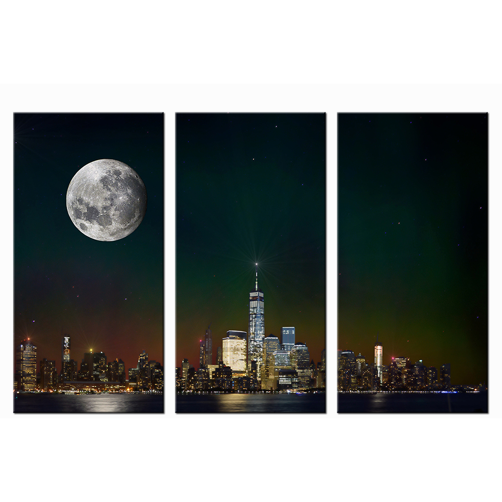 online get cheap cityscape wall murals aliexpress com alibaba group canvas print the shard of london under the moon cityscape night view painting home decor wall mural modern giclee artwork 3 piec