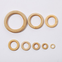 Wholesale 5pc/lot 15mm ~ 100mm diy accessories burlywood hoop rings wooden ring bag fastener