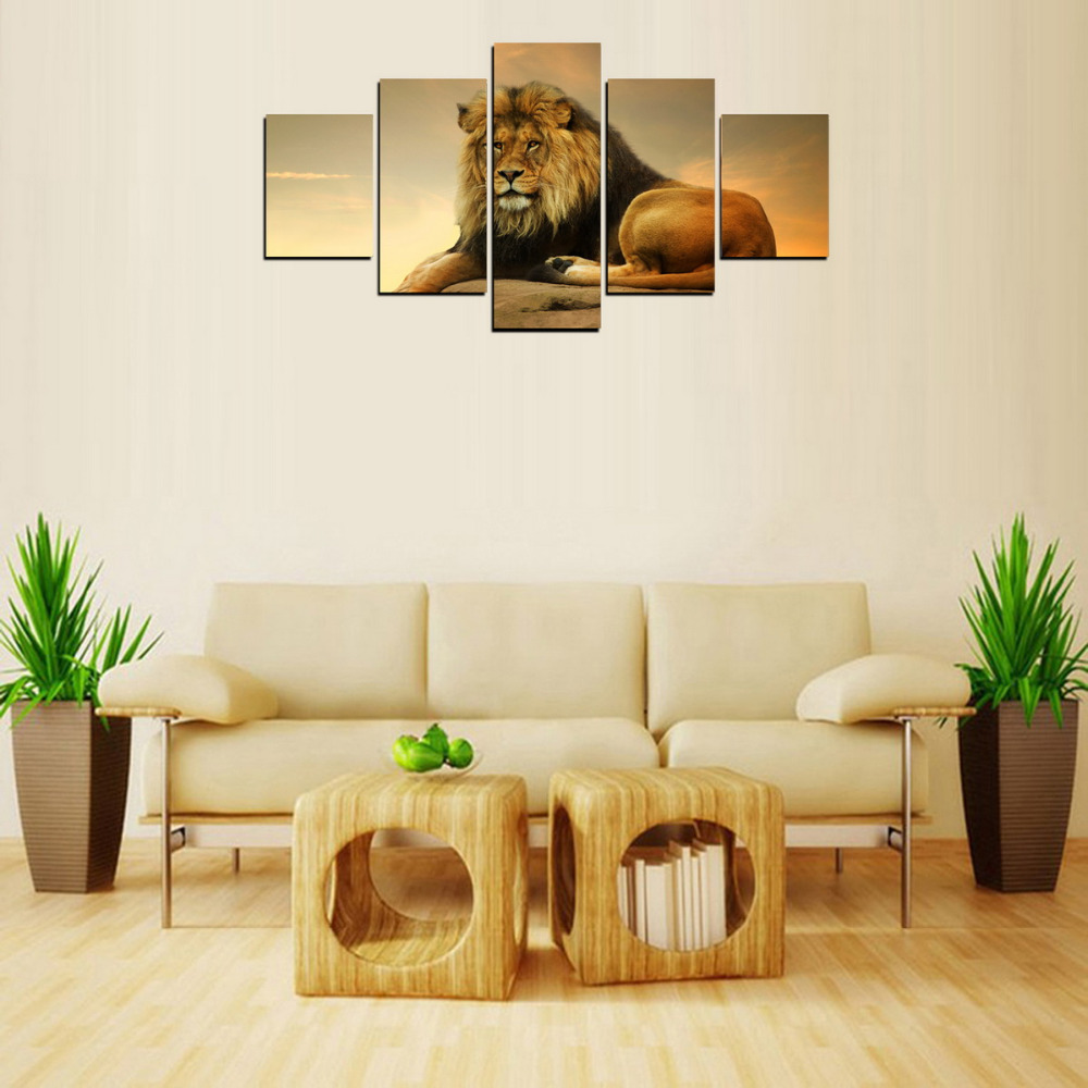 Fancy Lion King Canvas Wall Art Ensign - Wall Art Collections ...