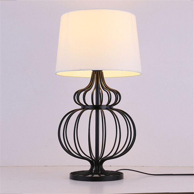 Cloth Stand For Bedroom Creative Decoration country style metal lamp body table lamps bedroom bedside living
