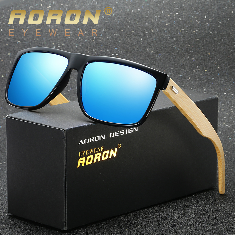 8648afcb34 AORON 2019 nuevo de bambú gafas de sol polarizadas para hombres, gafas de  madera gafas de sol de mujer de marca Original de madera gafas de sol de  masc