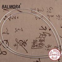 New Arrival 100 Real Pure 925 Sterling Silver Chain Necklaces 16 18 Inches Silver Chain Women