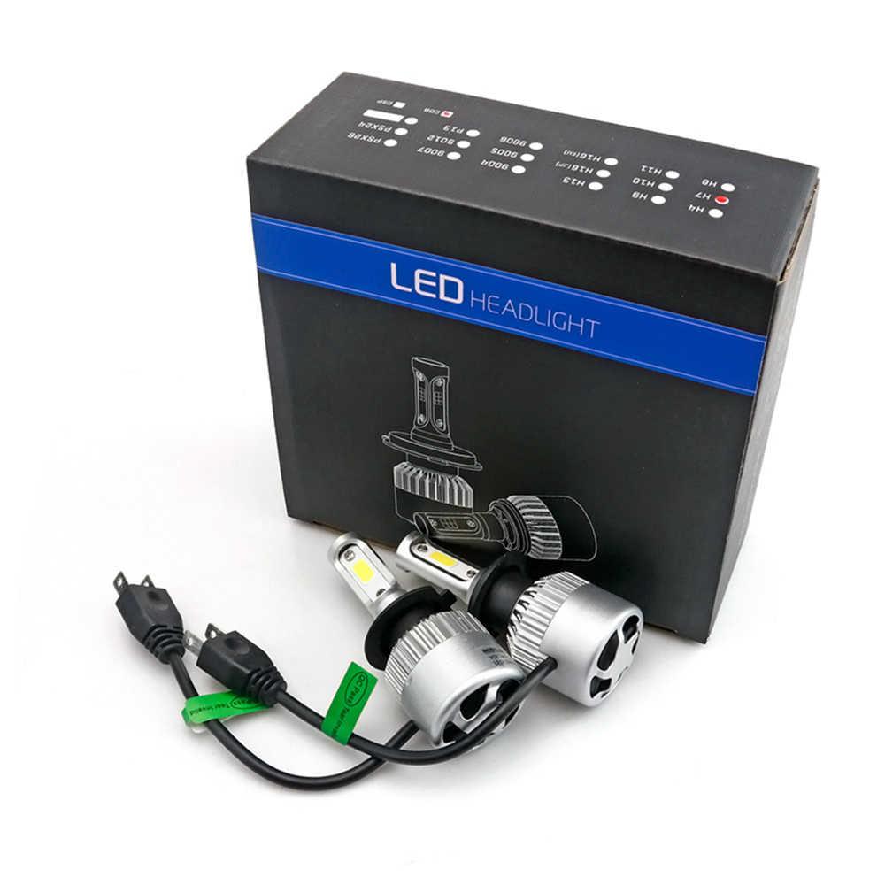 POPNOW 8000LM 72W 6000K H4 H7 H8 H9 H11 Car LED Headlights White Fog Lamps 9005 HB3 9006 HB4 Fog Light Bulbs