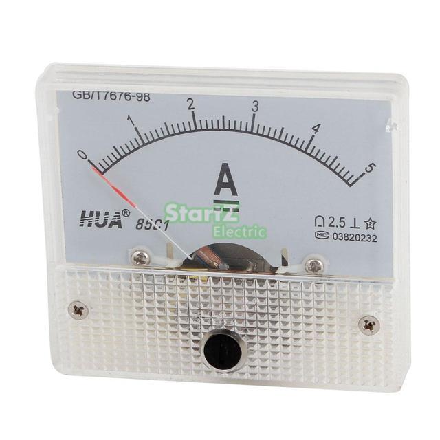 DC Analog Meter Panel 5A AMP Aktuelle Amperemeter 85C1 0-5A Gauge