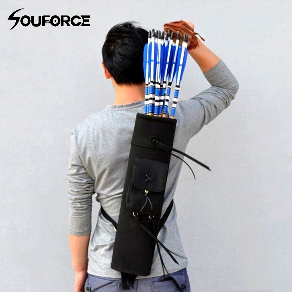 21 24 Arrow Archery Back Quiver Holder Bag with 3 Point Belt and High Quality Super