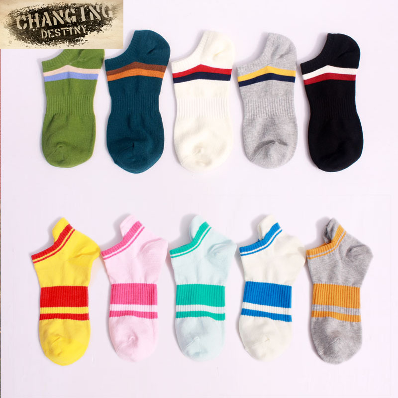 Spring Summer New Cotton Men Socks Shallow Mouth Socks Cool Breathable Comfortable