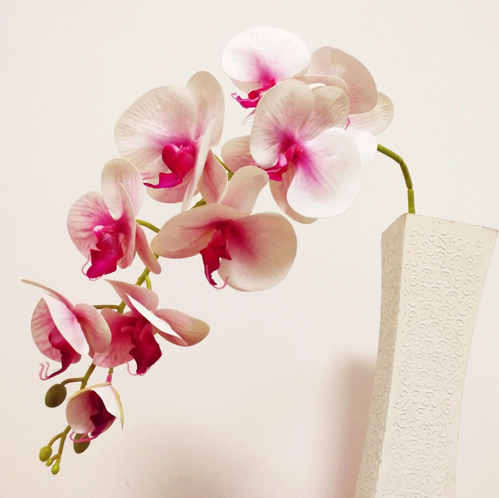 5P PU Orchids 3D Printing Orchid Plant rtificial Real Touch Phalaenopsis 95cm for Wedding Centerpieces Table
