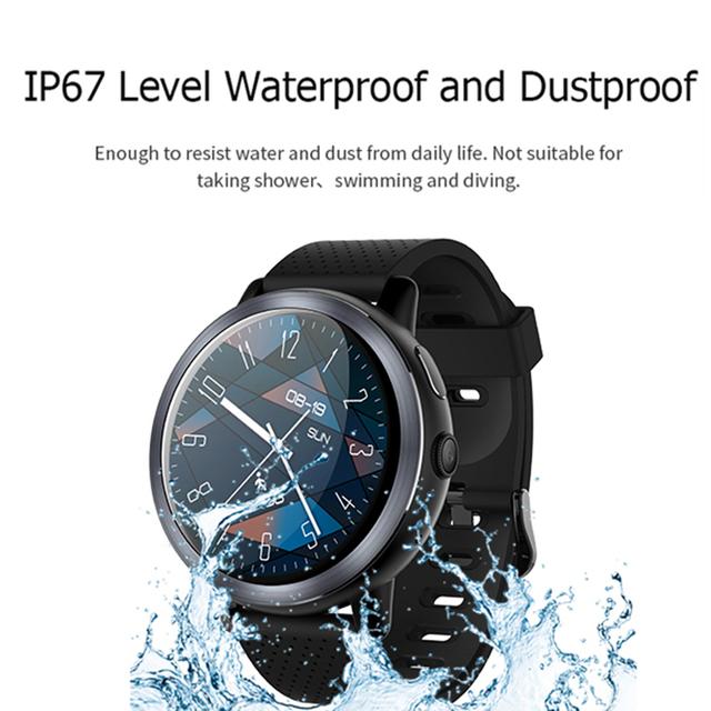 LEMFO LEM8 Luxury 4G Smart Watch Android 7.1.1 2GB + 16GB GPS 2MP Camera 1.39 Inch AMOLED Screen 580Mah Battery Smartwatch Men