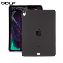 Transparent Cover For iPad Pro 12.9 2018 Case, GOLP Ultra Thin Slim Soft TPU Back Case for iPad Pro 11 2018 cover стоимость
