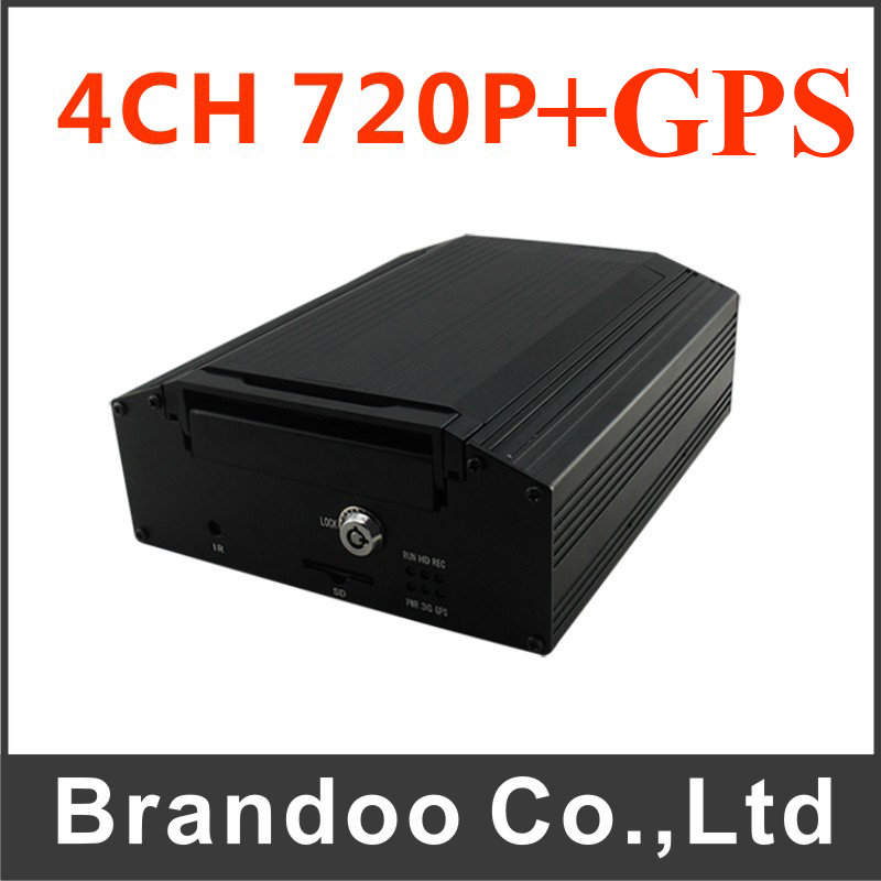 GPS HDD 4CH Vehicle Car Mobile DVR Support Truck Train Mobile DVR