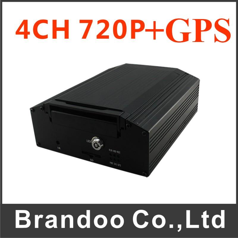 Gps HDD 4CH автомобиля Автомобильный видеорегистратор Поддержка грузовик поезд Мобильный DVR