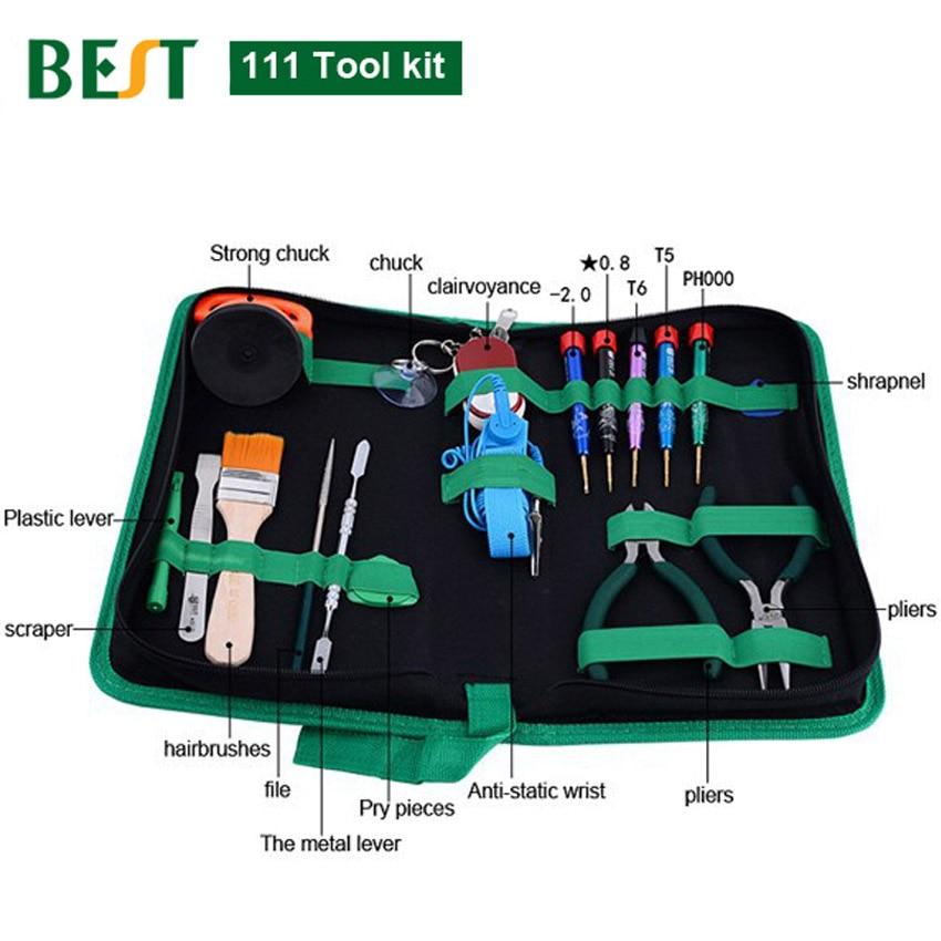 Buy DIY Mobile Phone PC Laptop Repair Tools Kit PH000 T5 T6 Slotted 2.0 Pentalobe 0.8 Screwdriver LCD Suction Cup Pliers Pry Supdger