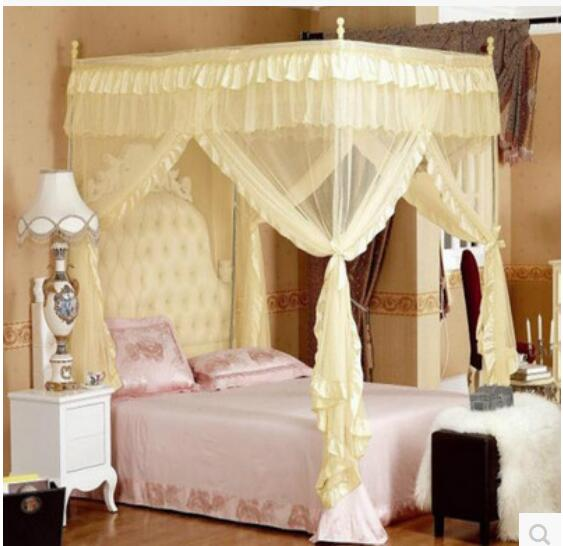 4 Corners Post Bed Curtain Canopy Mosquito Net Twin-XL Full Queen Cal King Size & 4 Corners Post Bed Curtain Canopy Mosquito Net Twin XL Full Queen ...