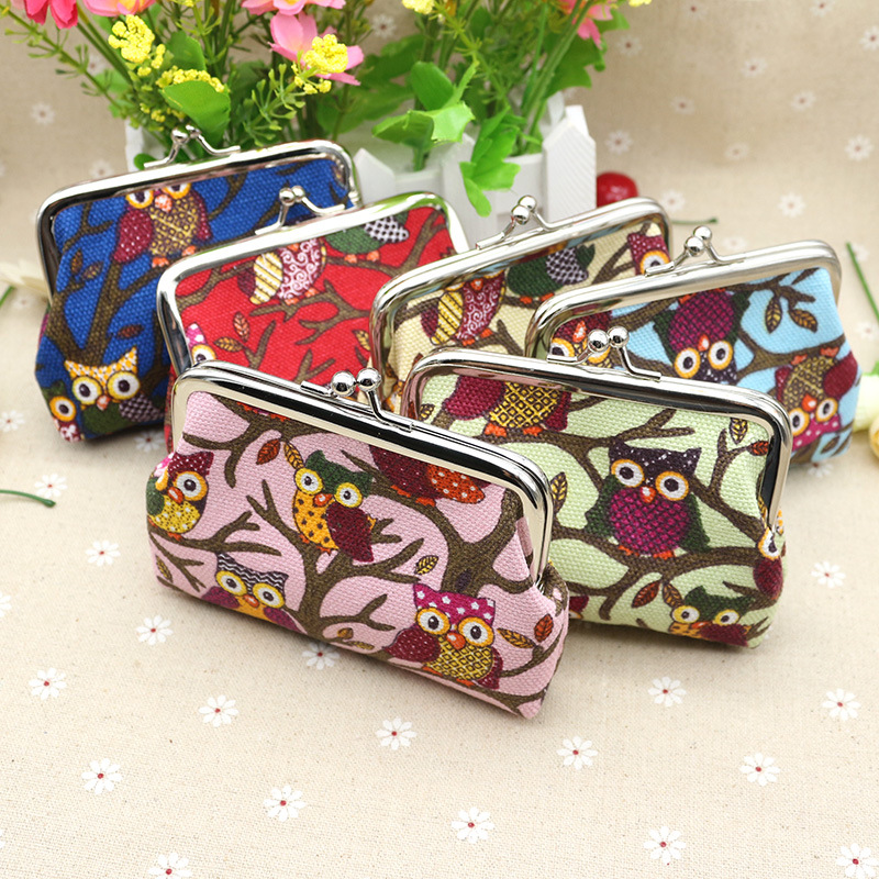 2017 Ladies wallets purses anime wallets Owl Pattern Coin Purse female money Coin Pouch Key Credit Card Holder Phone case pouch owl coin purses women wallets small mini cute cartoon card holder key headset money bags for girls ladies purse pink green blue