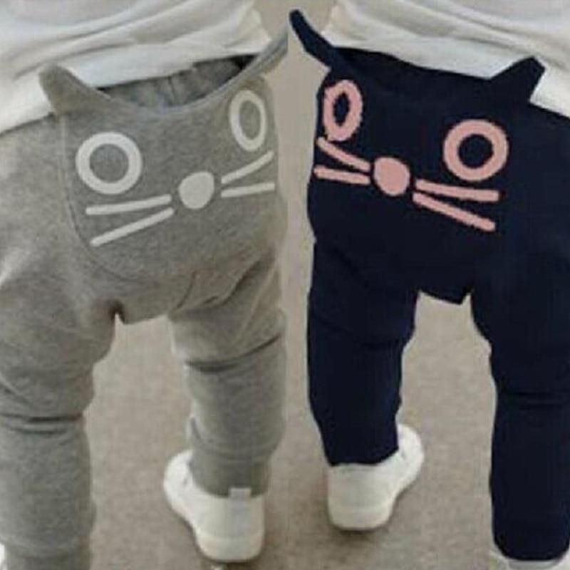 Pantalons pour bébés avec motifs de dessins animés, en coton, pantalon de sarouel pour garçons, pantalon de hibou, printemps et automne