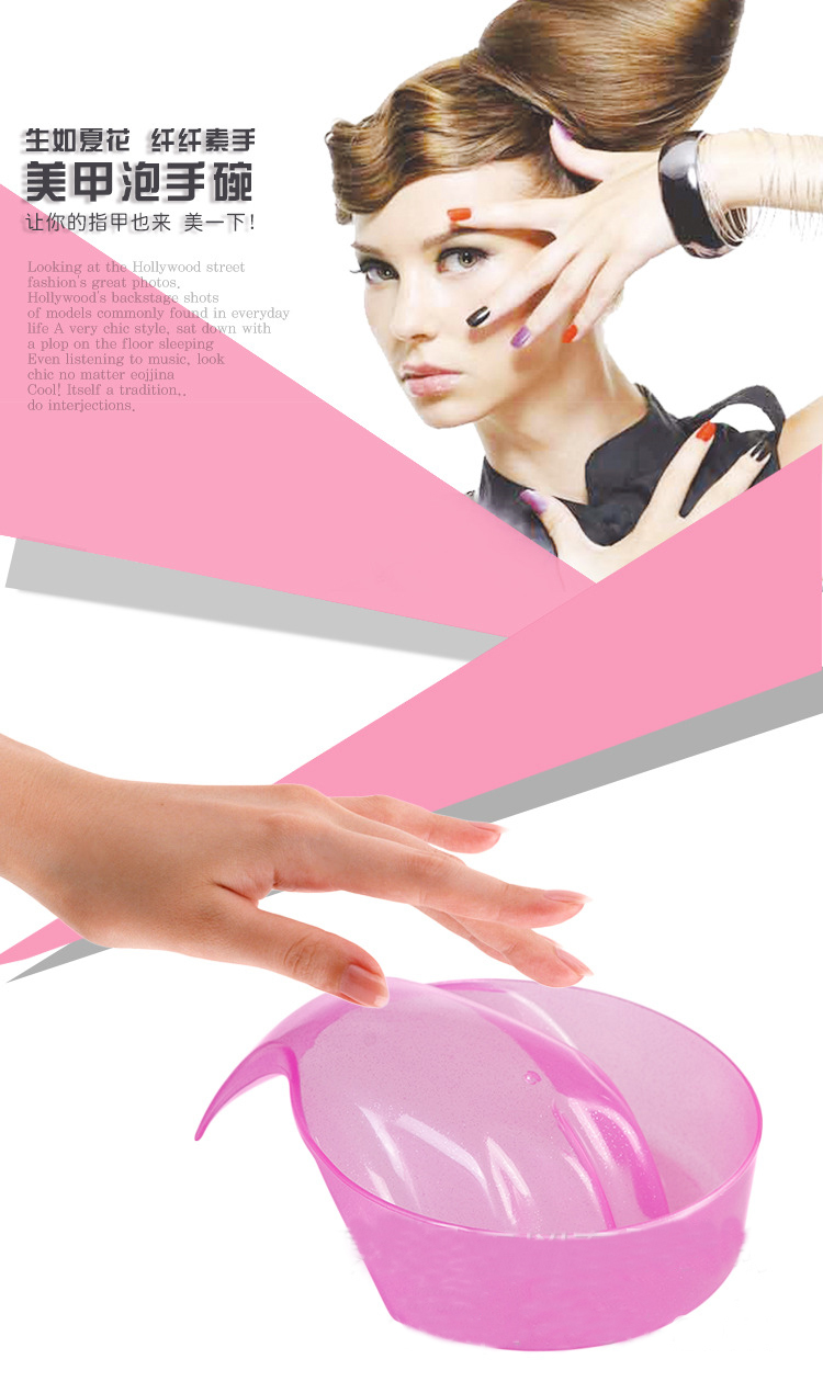 Maniküre Bowl Soak Finger Acryl spitze nagel Soaker Behandlung ...