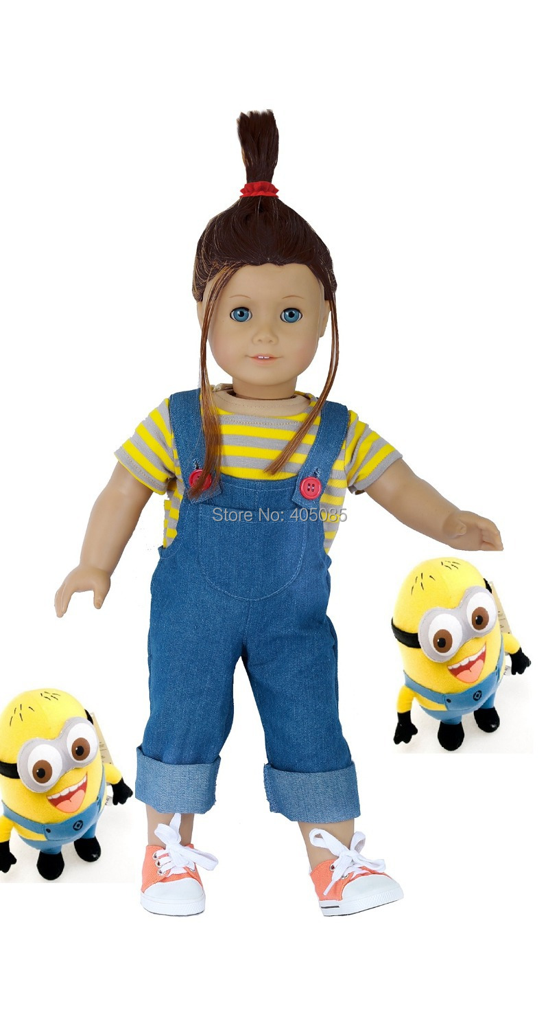 Us 13 99 Handmade Despicable Me Agnes Jeans T Shirt And Shoes Fits 18 Doll Like American Girl Doll Clothes In Dolls Accessories From Toys Hobbies