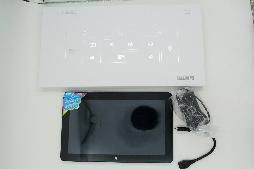 цена на Newest!!! 10.6'' IPS Cube Iwork11 Stylus Windows 10 Tablet PC 1920x1080 Intel Atom X5-Z8300 Quad Core HDMI 2.0MP+5.0MP Camera