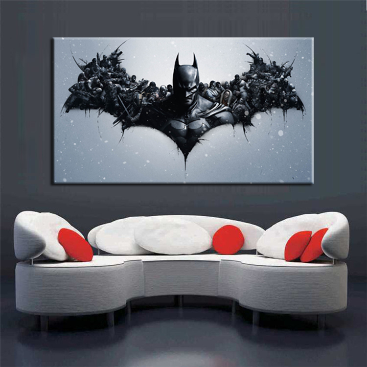 cuadros abstractos batman movie poster print on canvas