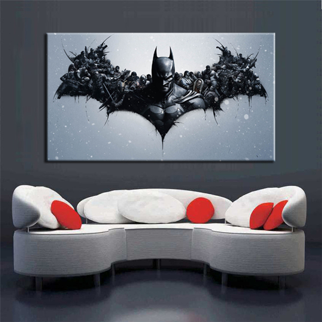 Perfect Cuadros Abstractos Batman Movie Poster Print On Canvas Home Decor Wall Art  Living Room Decoration