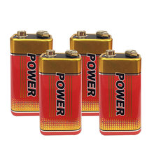 4Pcs New 6F22 Extra heavey duty 6F22 9V Batteries Carbon Zinc Battery 9 Volt Battery